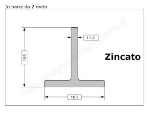 Angolare zincato 60x5 in barre da 3 metri