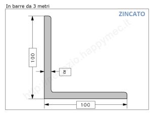 Profilo piatto grezzo 20x10 in barre da 3 metri