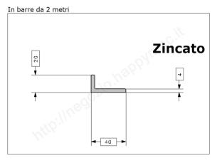 Profilo quadro pieno 6mm grezzo in barre da 1 metro