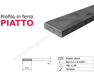 Tubo rettangolare grezzo 100x40x2 in barre da 1 metro