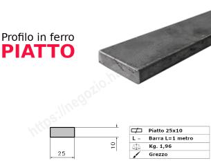 Tubo rettangolare grezzo 40x30x1,5 in barre da 1 metro