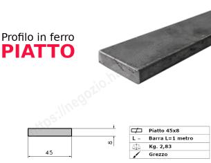 Tubo rettangolare zincato 40x10x1,5 in barre da 2 metri*