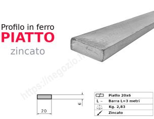 Profilo L grezzo 30x20x4 in barre da 2 metri