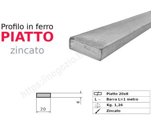 Profilo L grezzo 30x20x4 in barre da 3 metri