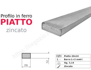Profilo L grezzo 40x20x4 in barre da 1 metro