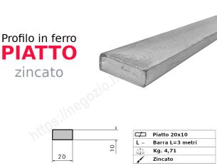 Profilo L grezzo 40x20x4 in barre da 2 metri