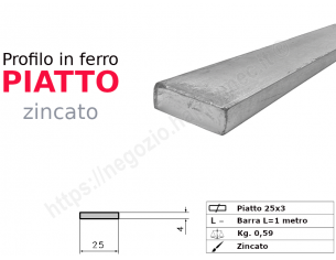 Profilo L grezzo 40x20x4 in barre da 3 metri