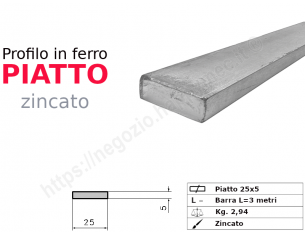 Profilo L grezzo 60x30x5 in barre da 2 metri
