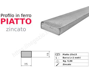 Profilo L zincato 30x20x4 in barre da 1 metro