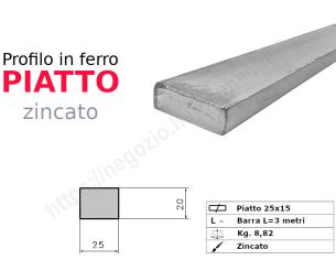 Profilo L zincato 30x20x4 in barre da 2 metri