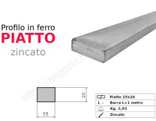 Profilo L zincato 30x20x4 in barre da 3 metri
