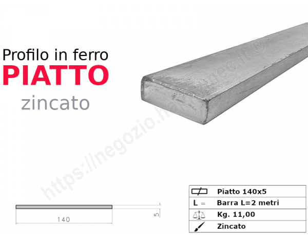Tubo quadro zincato 15x1,5 in barre da 3 metri*