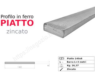 Tubo quadro zincato 30x1,5 in barre da 1 metro*
