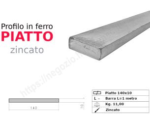 Tubo quadro zincato 30x1,5 in barre da 2 metri*