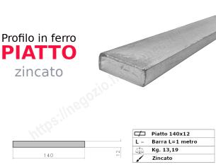 Tubo quadro zincato 30x2 in barre da 2 metri*