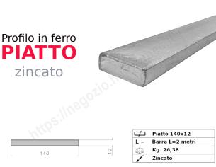 Tubo quadro zincato 30x2 in barre da 3 metri*