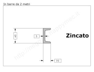 Tubo quadro grezzo 40x2 in barre da 1 metro