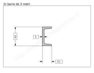 Tubo quadro grezzo 40x1,5 in barre da 1 metro