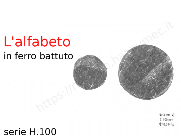 "Lettera Maiuscola ""J"" stile saltino misura 200 in ferro battuto"