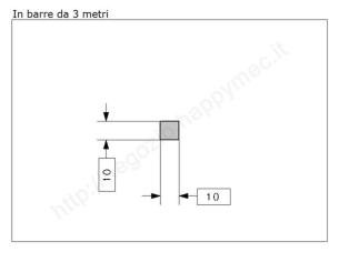 """Lettera Maiuscola """"L"""" stile saltino misura 200 in ferro battuto"""