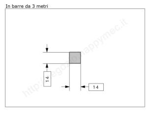 """Lettera Maiuscola """"P"""" stile saltino misura 200 in ferro battuto"""