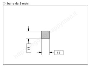 """Lettera Maiuscola """"R"""" stile saltino misura 150 in ferro battuto"""