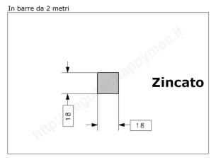 """Lettera Maiuscola """"S"""" stile saltino misura 150 in ferro battuto"""
