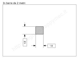 """Lettera Maiuscola """"T"""" stile saltino misura 150 in ferro battuto"""