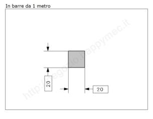 """Lettera Maiuscola """"V"""" stile saltino misura 100 in ferro battuto"""