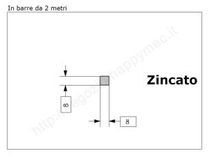 """Lettera minuscola """"a"""" stile saltino misura 150 in ferro battuto"""
