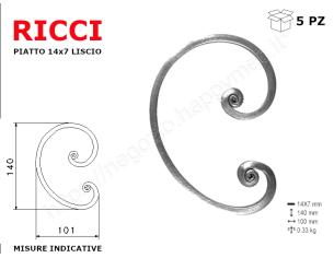 "Lettera minuscola ""i"" stile saltino misura 150 in ferro battuto"