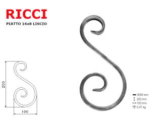 "Lettera minuscola ""n"" stile saltino misura 100 in ferro battuto"