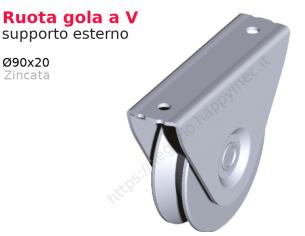 """Riccio a """"S"""" in piatto liscio 16x8 tipo 005 mis.100x200"""