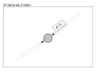 Cardine zinc. M18 con cavallotto e boccola regolabile
