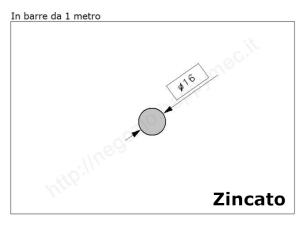 Cardine zinc. M18 con cavallotto e piastra imbutita 2 fori