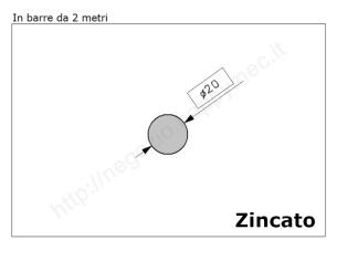 Cardine zinc. M24 con cavallotto e boccola regolabile
