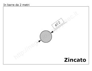 Cardine a fascia zinc. con piastra imbutita M18 a 4 fori
