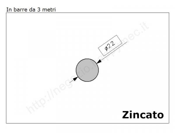 Cardine a fascia zinc. con piastra imbutita M22 a 4 fori
