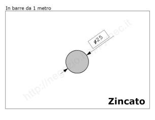 Cardine a fascia zinc. con piastra regolabile imbutita M27 a 4