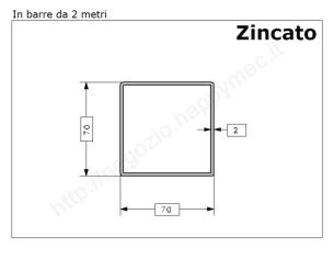 Tubo quadro grezzo 12x1,5 in barre da 1 metro