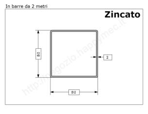 Tubo quadro grezzo 15x1,5 in barre da 1 metro