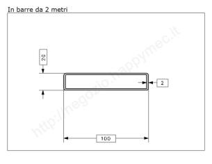 Tubo quadro grezzo 25x1,5 in barre da 1 metro