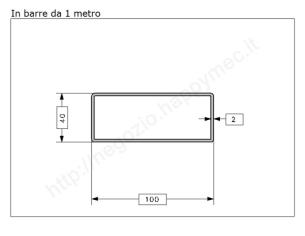 Tubo quadro grezzo 30x1,5 in barre da 3 metri