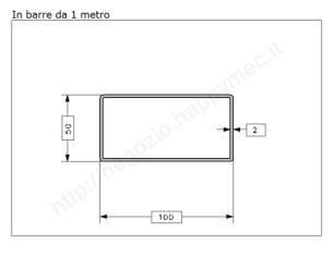Tubo quadro grezzo 30x2 in barre da 3 metri