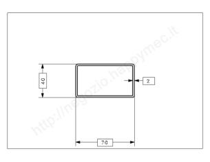 Rosetta fusa tipo 258 in ferro grezzo diam. 45 mm
