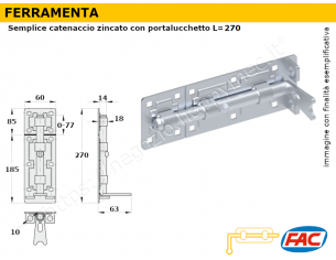 Profilo piatto zincato.120x12 in barre da 3 metri