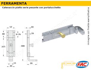 Profilo piatto zincato.120x15 in barre da 2 metri