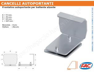 Profilo piatto zincato 25x10 in barre da 2 metri