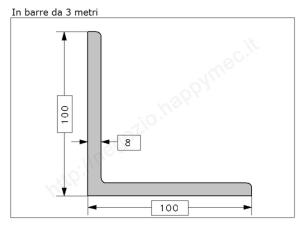Profilo piatto grezzo 12x 5 in barre da 1 metro
