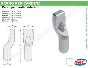 Profilo piatto zincato 50x20 in barre da 2 metri